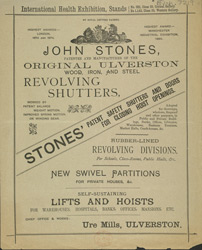 Advert For John Stone's Revolving Shutters & Partitions